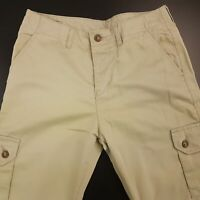 Wrangler Men Chino Trousers Jeans Cargo W32 L34 Beige Regular Straight High Rise