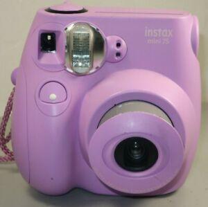 Fujifilm Instax Mini 7S Instant Camera Lavender Pink *GOOD W Batteries Free Ship