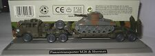 Roco Minitanks 840 Panzertransporter M26 & Sherman 1 87