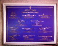 Star Trek Enterprise Legacy Plaque