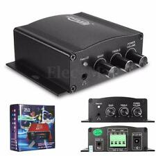 12V 30W Mini HiFi Stereo Amplifier Amp Booster Bass mp3 iPod Motorcycle Car Home