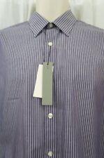 PERRY ELLIS Hombre Camisa Informal Talla S púrpura blanco rayas con botones