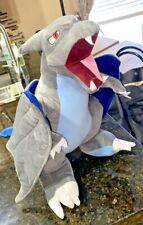 "Pokemon Dragon Mega Charizard X Plush  gray blue  17"" x  25L"