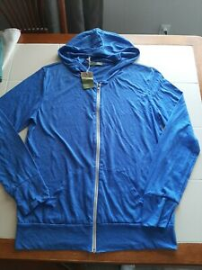New Alternative Earth Men's Eco Zip Blue Hoodie Sweatshirt Sweater XL