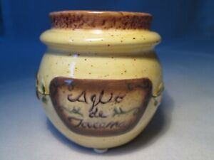 Vintage Rustic Ceramic Yankee Candle Tuscan Votive Holder. 7cm tall approx.