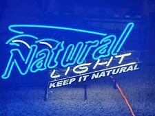 Natural light beer neon light up sign bar rare keep it mancave htf 36X18 pub htf