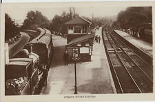 Unused postcard ~ Railway - Virginia water station