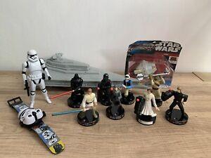 Star Wars Bundle: X8 Attacktiks Figures,Watch,Die-Cast Ship & Star Destroyer