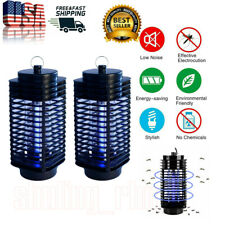 2 Pcs Electric Uv Mosquito Killer Lamp Fly Bug Insect Repellent Zapper Trap Us
