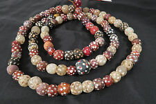 Filamento antichi perle in vetro 97cm Antique Venetian African Trade Eye beads afrozip