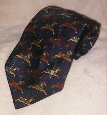 Celine Paris carousel horse 100% silk tie made in Spain