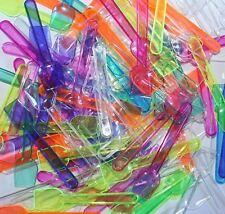 100 Plastic Disp Ice Cream Spoons Desert Party Picnic  Food Sampling Jelly craft