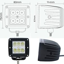 4 Pack - 24W CREE LED 1800 LM Work Light Spot Lamp CUBE POD Square (4 Cubes)