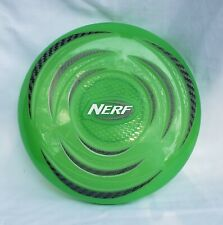 """Nerf frisbee lime green lights up 10"""" hard plastic toy"""