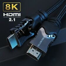 Ultra HD HDMI 2.1 10ft cable 8k 4k 120hz 48Gbps Optical Braided Alloy support 3D