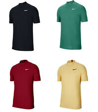 Men Tiger Woods Golf Dri-Fit Mock Neck Shirt CT6078 Red Navy Blue Green Yellow