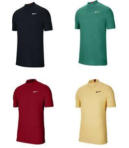 Men Tiger Woods Golf Dri-Fit Mock Neck Shirt CT6078 Red Navy Blue Green Yellow