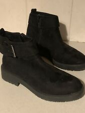 New look black Suede boots 7 Ankle Flats