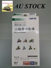 TOMYTEC N Scale Diorama Collection #116 Bicycles & Mopeds, model railway/diorama