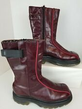Vintage Dr Martens Size US 6 UK 4 EU 36.5 Burgundy Combat Boots Made in England