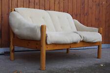 60er Sofa Danish 2er Couch Kiefer Loveseat Hvidt Jalk Vodder Ära Domino Vintage