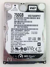 """HDD 750GB 7200RPM 2.5"""" Laptop Hard Drive Western Digital Black WD7500BPKT"""
