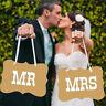 Style vintage M. et Mme Bannière de mariage rustique Bunting Heart Chair DecLTA