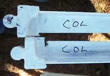 Set of Two Vintage COL Taper Pin or Cone Bed Rails for Old Antique Iron Bed