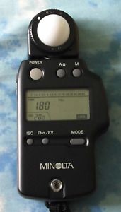 Minolta Model IV F Light Meter with Case and Battery Excellent