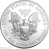 2015 SILVER EAGLE DOLLAR COIN BU/GEM 1 oz (FINE SILVER-- 999)