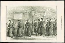1877 Antique Print - JAPAN SATSUMA YEDO POLICEMEN MARCHING CIVIL WAR (246)