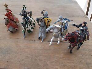 Schleich Ritter mit Pferden im Konvolut