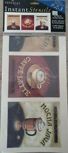 Imperial Instant Stencil Coffee Latte Mocha Java Cafe #83001200
