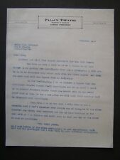 Movie Letterhead Palace Theatre 1927 Contracts for Will Rogers Films Signed