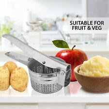 Hand Held Potato Ricer Masher Smooth Vegetable Fruit Food Press Stainless Steel