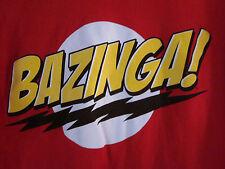 BAZINGA! Big Bang Theory Official Sheldon Cooper Short Sleeve T-Shirt L Large ..