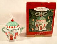 Cozy Home Teapot Christmas Ornament Hallmark Keepsake Ornament 2001 MIB