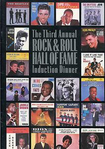 1988 Rock & Roll Hall of Fame Dinner Concert Program Bob Dylan Beatles Supremes