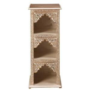 MADE TO ORDER Mehrab Indian Carved Arch Window bookshelf book display shelf B01