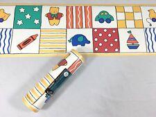 Village Wallpaper Border Duck Boat Car Bear Block Crayola Kids Nursery