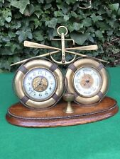 Excelente Latón Antiguo Francés se envía Reloj barómetro marítimo náutica interés