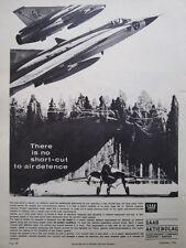 6/1966 PUB SAAB 35 DRAKEN ROYAL SWEDISH AIR FORCE ORIGINAL AD