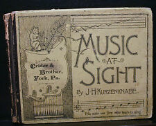 MUSIC AT SIGHT,KURZENKNABE,1888,LESSONS,VOCAL CULTURE,MUSIC,SELF INSTRUCTOR,
