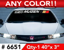 """MUGEN w/ 3 COLOR BARS WINDSHIELD DECAL STICKER 40""""x3"""""""