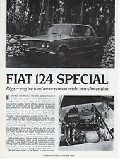 Fiat 124 Special Road Test by Road & Track magazine March 1970 NOS
