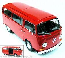 VW Bus T2 - Modell 1:24 - Rot - NEU & OVP
