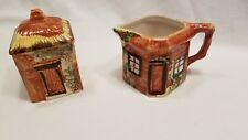 Vintage Hand Painted Price Kensington Cottage Ware Small Sugar Creamer Set