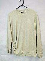 Women's Topshop Top Long Sleeve Grey Knitwear Pull Over Size 8 Grey