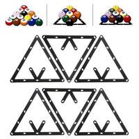 6pc 8 9 y 10 Ball Magic Rack Posicionamiento de billar Pool Cue Accesorio Negro