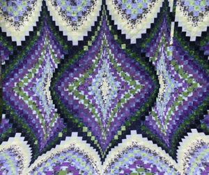Lilacs in Bloom King Bed Quilt
